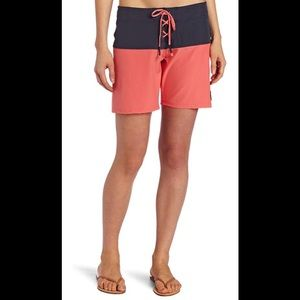 Roxy Juniors Rip Current Boardshort, Coral, 7